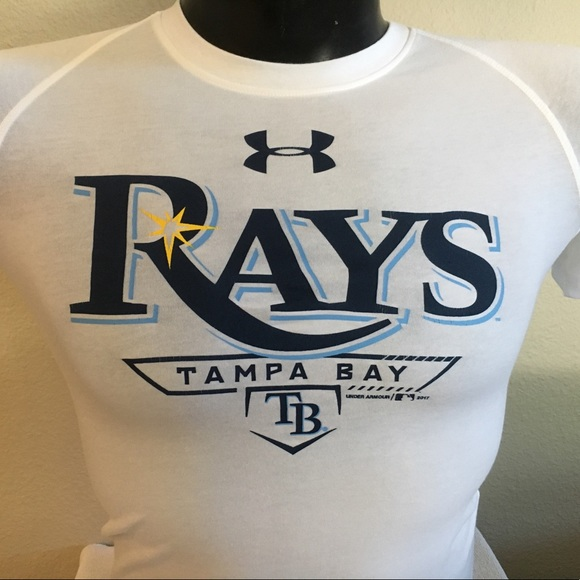 2d58156e Youth NWT Under Armour MLB Tampa Bay Rays Shirt